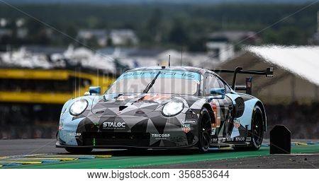 Le Mans / France - June 15-16 2019: 24 Hours Of Le Mans, Dempsey Proton Racing  Team, Porsche 911 Rs