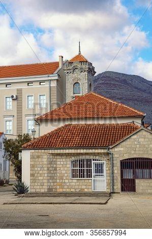 Red Roofs. Street In The Old Town Of Trebinje. Bosnia And Herzegovina, Republika Srpska