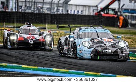 Le Mans / France - June 15-16 2019: 24 Hours Of Le Mans, Dempsey Proton Racing Team , Porsche 911 Rs
