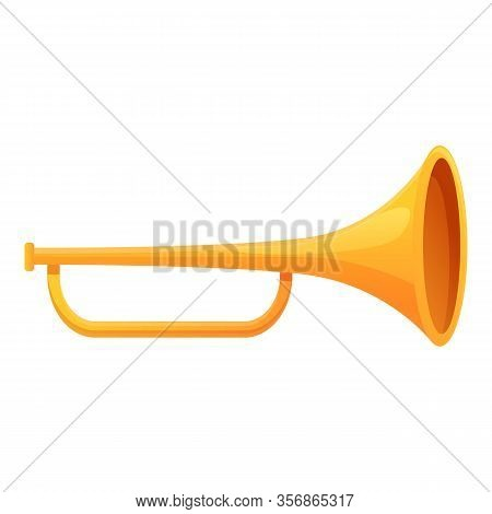 Mexican Trumpet Icon. Cartoon Of Mexican Trumpet Vector Icon For Web Design Isolated On White Backgr