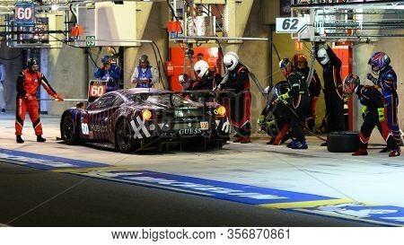 Le Mans / France - June 15-16 2019: 24 Hours Of Le Mans, Kessel  Racing Team , Ferrari 488 Gte Gteam