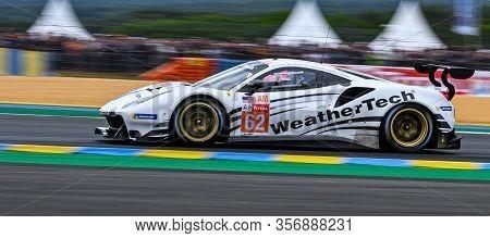 Le Mans / France - June 15-16 2019: 24 Hours Of Le Mans, Weathertech Racing, Ferrari 488 Gte Gteam,