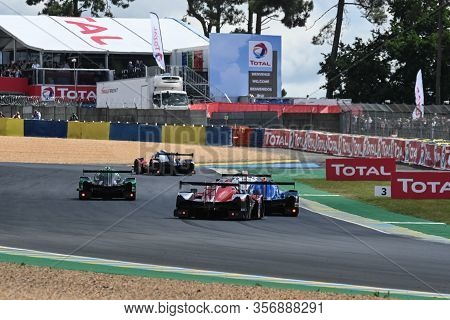 Le Mans / France - June 15-16 2019: 24 Hours Of Le Mans, Start Of Race Road To Le Mans Race Opening