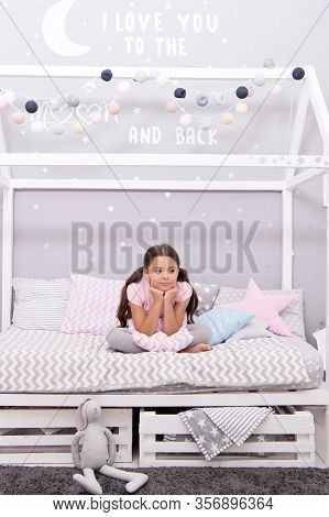Sweet Dreams. Fashion Pajamas. My Bedroom My Rules. Cute Cozy Bedroom For Small Girl. Girl Relaxing
