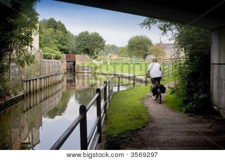 Stratford upon avon canal Preston Bagot Warwickshire Midlands England UK. poster