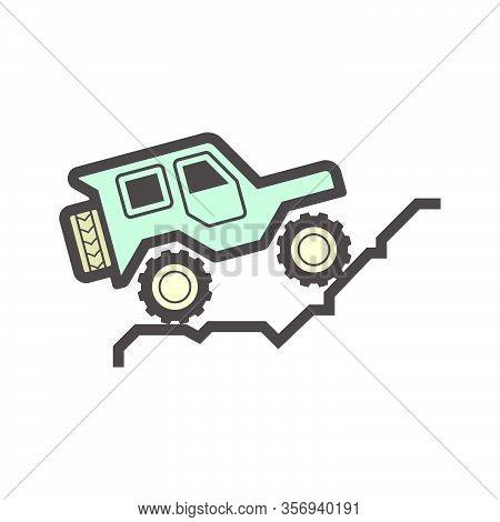 Off Road Suv Vehicle Vector Icon Design.