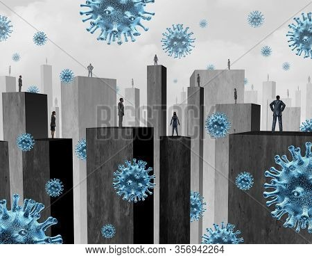 Society Distancing Disease Control And Limiting Social Contact With People To Avoid Flu Virus Infect