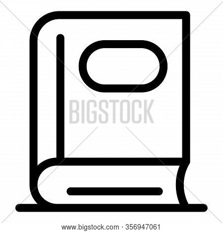 Phonebook Icon. Outline Phonebook Vector Icon For Web Design Isolated On White Background