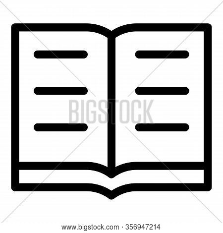 Open Encyclopedia Icon. Outline Open Encyclopedia Vector Icon For Web Design Isolated On White Backg