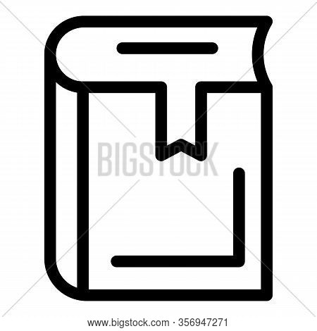 Bookmarked Diary Icon. Outline Bookmarked Diary Vector Icon For Web Design Isolated On White Backgro