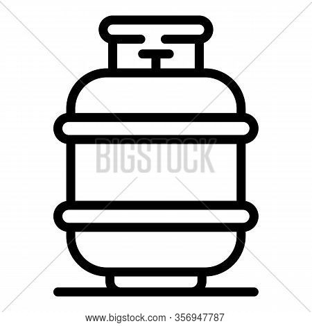Compact Gas Cylinder Icon. Outline Compact Gas Cylinder Vector Icon For Web Design Isolated On White