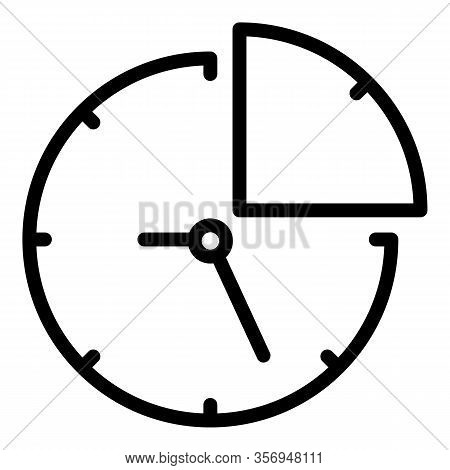 Quarter Of An Hour Icon. Outline Quarter Of An Hour Vector Icon For Web Design Isolated On White Bac