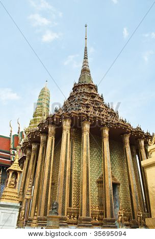 Wat Phra Kaew Temple of the Emerald Buddha Bangkok Thailand. poster