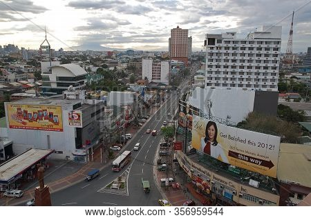 Quezon City, Ph - Dec. 26: Tomas Morato Overview At Afternoon On December 26, 2012 In Quezon City, P