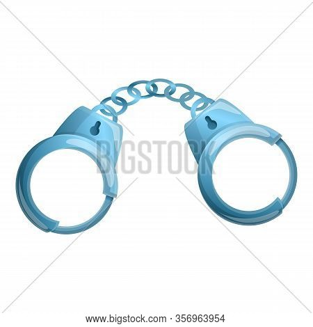Handcuffs Icon. Cartoon Of Handcuffs Vector Icon For Web Design Isolated On White Background