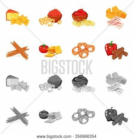 Isolated Object Of Taste And Seasonin Icon. Collection Of Taste And Organic Stock Vector Illustratio