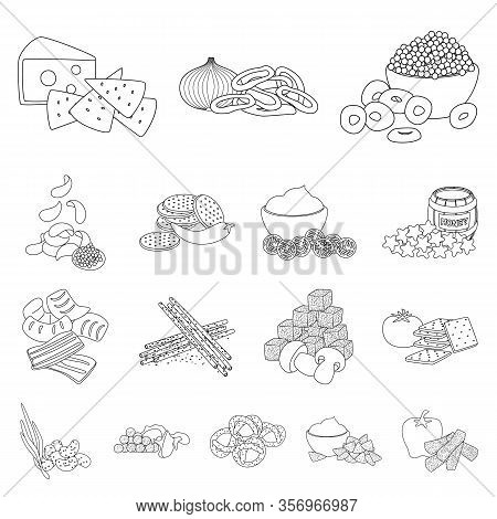 Vector Illustration Of Taste And Crunchy Icon. Set Of Taste And Cooking Stock Vector Illustration.