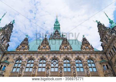 Hamburg City Hall Exterior