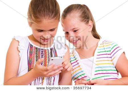 Girls with iPhone.
