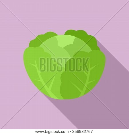 Cabbage Icon. Flat Illustration Of Cabbage Vector Icon For Web Design