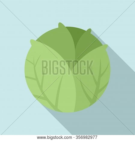 Cooking Cabbage Icon. Flat Illustration Of Cooking Cabbage Vector Icon For Web Design