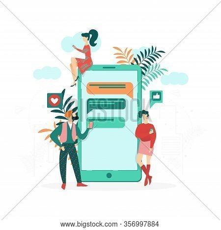 Advertising Banner Virtual Friendship Cartoon. Flat Flyer Identifying Hidden Causes Misunderstanding