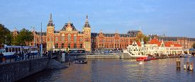 Amsterdam Netherland 10 03 2015  Station Amsterdam Centraal Is The Largest Railway Station Of Amster