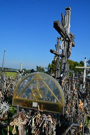 Siauliai, Lithuania September 15 2015: View Of Hill Of Crosses With Over Four Hundred Thousand Cross