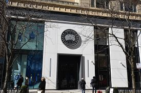 February 29, 2020, Chicago, Il Canada Goose Arctic Program Store With Sign Just Above Store Front En