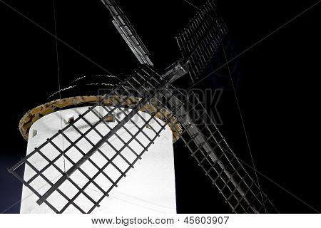 Windmill At Night. Spain