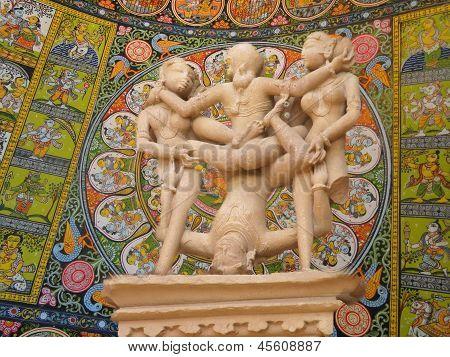 Erotic Sculptures From Khajuraho