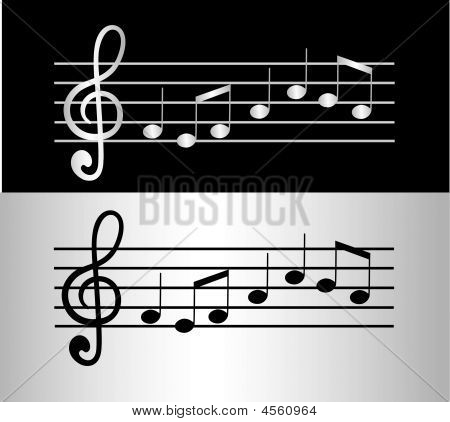 Silver Musical Notes