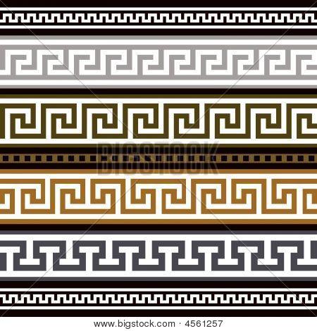 Set Of Greek Geometric Borders