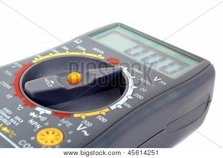 Modern Digital Multimeter On A White Background