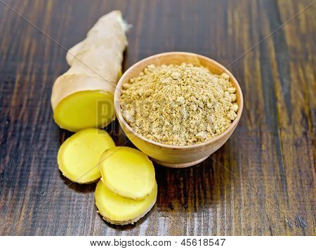 Ginger Powder And Root Sliced