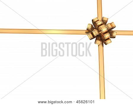 Golden Ribbons And Bow