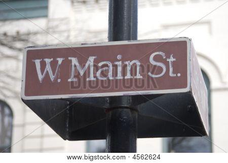 Main Street Sign