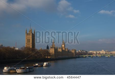 Buildings Of Parliament With Big Ban Tower