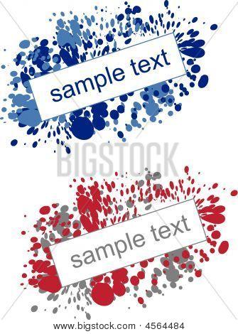 Splatter Abstract Background - Vector Illustration