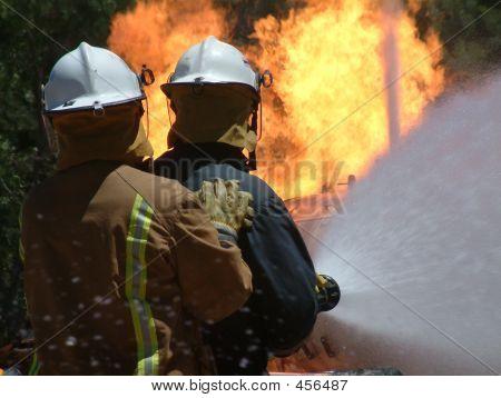 Firemen at work (gas fire) ** Note: Slight graininess, best at smaller sizes