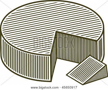 Woodcut Block Of Cheese