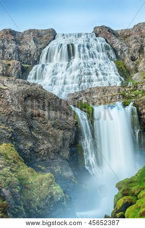 Dynjandi is the most famous waterfall of the West Fjords and one of the most beautiful waterfalls in the whole Iceland. It is actually the cascade of waterfalls.