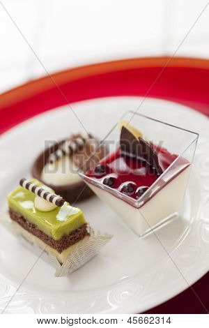 Beautiful Tantalizing Italian Pastries on a Plate.