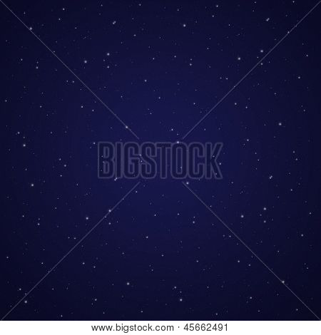 Night dark blue sky with stars abstract background