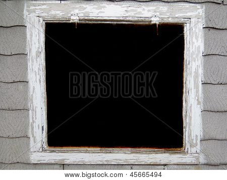 Large Grunge White Window Frame Background