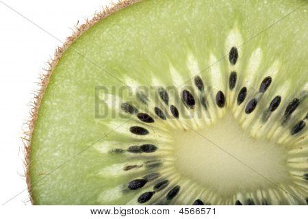 Section Of A Kiwi Fruit Slice