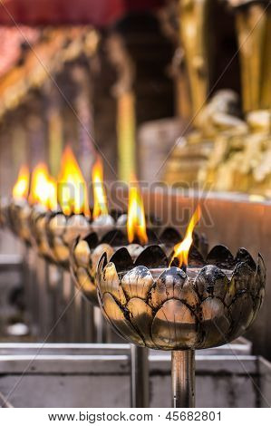 Vesak Bucha Candle In Thai Temple In Chiangmai Thailand