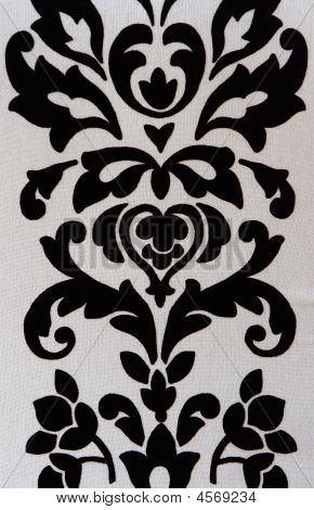 Black White Fabric Retro Texture