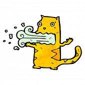 cartoon burping cat poster