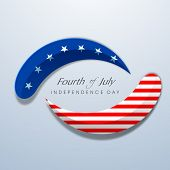 American Independence Day, Fourth of July concept with ribbon. poster